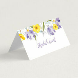 Lilac & Lemon Floral Place Cards