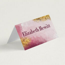 Plum & Gold Place Cards