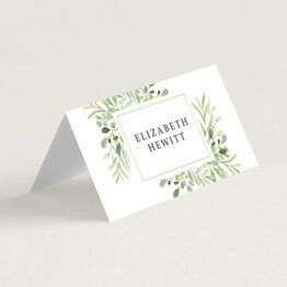 Greenery Frame Place Cards