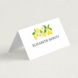 Watercolour Lemons Place Cards