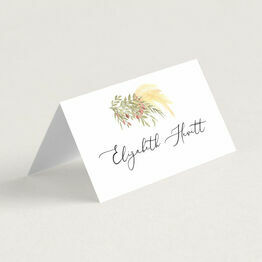 Pampas Grass Place Cards