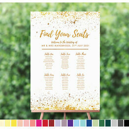 Gold Dust Wedding Table Seating Plan