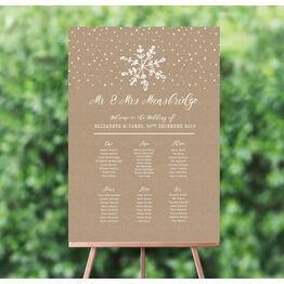 Rustic Snowflake Wedding Seating Plan