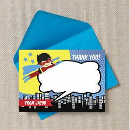 Personalised Superhero Thank You Cards
