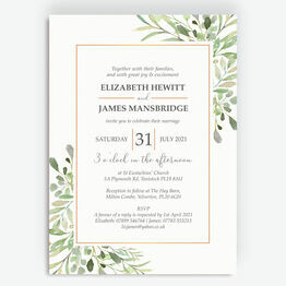 Greenery Frame Wedding Invitation