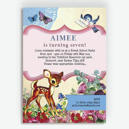 Vintage Deer Children's Party Invitation