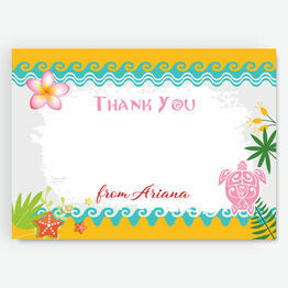South Pacific Tropical Island Thank You Cards