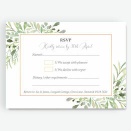Greenery Frame Evening RSVP