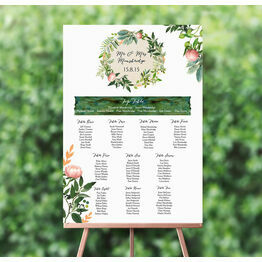Flora Wreath Wedding Seating Plan