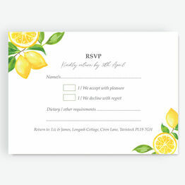 Watercolour Lemons RSVP