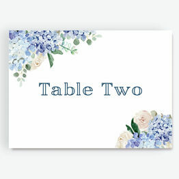 Blue Hydrangea Table Name