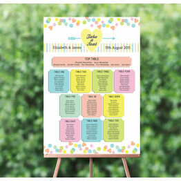 Candy Confetti Wedding Seating Plan