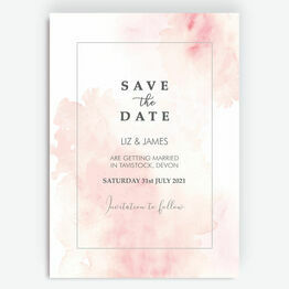 Blush Pink Watercolour Save the Date