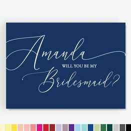 Calligraphy Style \'Be My Bridesmaid\' Cards