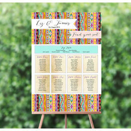 Aztec Ikat Wedding Seating Plan