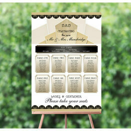 Art Deco Wedding Seating Plan