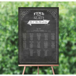 Chalkboard Wedding Seating Plan