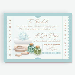 Spa Day Personalised Postponement Gift Token