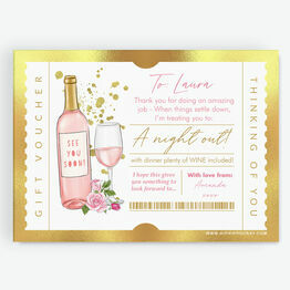 Night Out / Dinner Personalised Postponement Gift Token