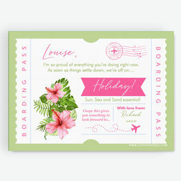 Holiday / Boarding Pass Personalised Postponement Gift Token