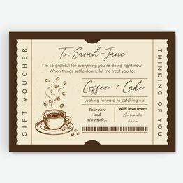 Coffee & Cake Personalised Postponement Gift Token