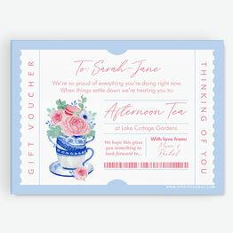 Afternoon Tea Personalised Postponement Gift Token