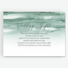 Forest Green Watercolour Gift Wish Card