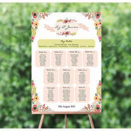 Elegant Floral Wedding Seating Plan