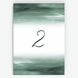 Forest Green Watercolour Table Number