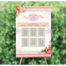 Pastel Watercolour Wedding Seating Plan
