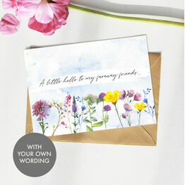 Pack of 10 Personalised 'Wild Flowers' Note Cards