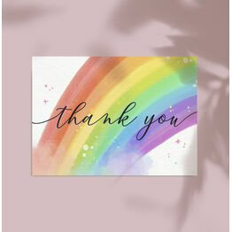 Pack of 10 Rainbow Note Cards / Thank You Cards