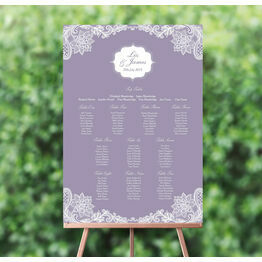 Romantic Lace Wedding Seating Plan