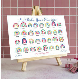 Personalised School Leavers / Teacher Gift Rainbow Print