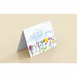 Pack of 10 Floral Note Cards / Thank You Cards