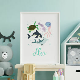 Under The Sea Personalised Wall Print
