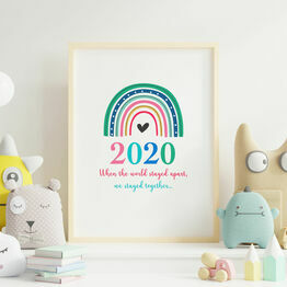 Lockdown Rainbow 2020 Wall Print