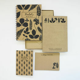 Personalised Eco Stationery Gift Set - 'New Leaf'