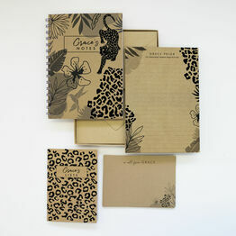 Personalised Eco Stationery Gift Set - 'Wild Heart'