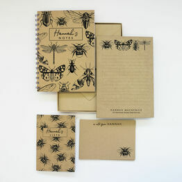 Personalised Eco Stationery Gift Set - 'Bee-you-tiful'