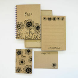 Personalised Eco Stationery Gift Set - 'Sunflowers'