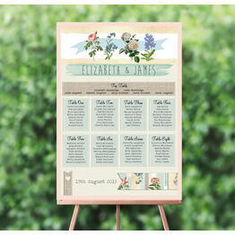 Rustic Botanical Wedding Seating Plan