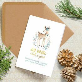 Pack of 10 'Oh Deer' 2020 Christmas Cards
