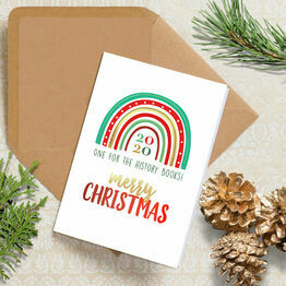 Pack of 10 \'2020 Rainbow\' Christmas Cards