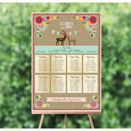 Rustic Woodland Wedding Seating Plan