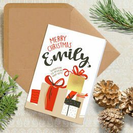 Personalised Scratch Off Gift Reveal Christmas Card