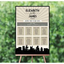 Vintage Hollywood Wedding Seating Plan