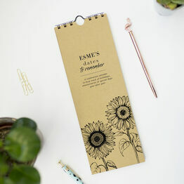 Personalised Sunflowers Perpetual Calendar