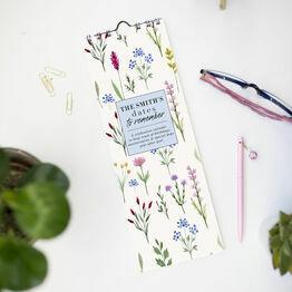 Personalised Wild Flowers Perpetual Calendar