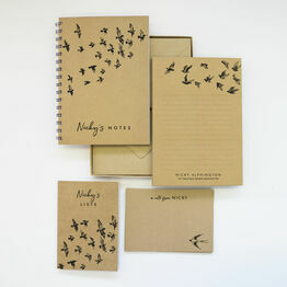 Personalised Eco Stationery Gift Set - 'Flying Birds'
